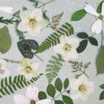 Woodland Leaves with White Accents,..